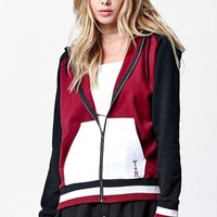Young & Reckless Varsity Stacked Zip Up Hoodie - Womens Hoodie - Red