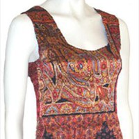 Alberto Makali Sleeveless Body Hugging Vintage Blouse