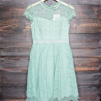 belle of the ball dress by Ryu in sage