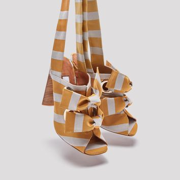 ALDARA EGG STRIPE SANDALS