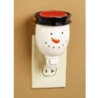 Snowman Wax Melter Tart Warmer Nightlight Seasonal Winter Christmas Decor