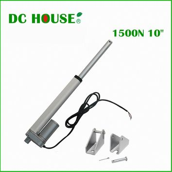 250mm stroke  12V DC  solar tracker,1500N=150KG load  5.7mm/sec ,for electric sofa,  high speed mini linear actuator