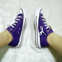 Converse All Star Sneakers canvas shoes for Unisex sports shoes low-top Sapphire blue-2