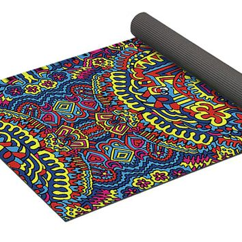 Groovy Zendoodle Colorful Art Yoga Mat
