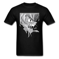 Anime T-Shirt cosplay Inuyasha Remixed By DLart Tops T Shirt Rife Crewneck Design Short Sleeve All Cotton Men T-shirts Summer T Shirts Novelty Anime AT_57_4