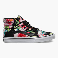 Vans Hawaiian Floral Sk8-Hi Womens Shoes Black  In Sizes