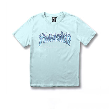 Thrasher  Powder Blue Tees