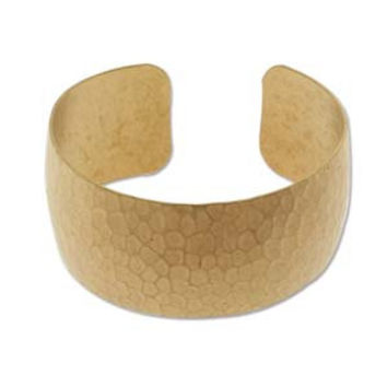 Hammered Cuff Brass Wide DOMED Bracelet Raw Blank For Embellishment