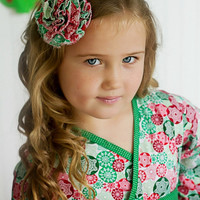 Christmas Dress for Girls - Kimono Dress with Obi Sash