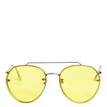 Small Rimless Aviator Sunglasses | Topshop