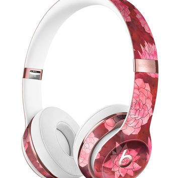Red Floral Succulents Full-Body Skin Kit for the Beats by Dre Solo 3 Wireless Headphones