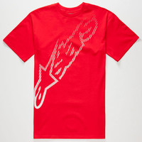 Alpinestars Sparse Mens T-Shirt Red  In Sizes