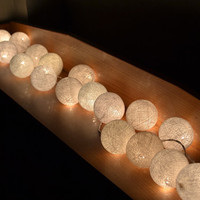 Wedding Decoration White Cotton Ball Patio Home Improvement 20 Lights per Set