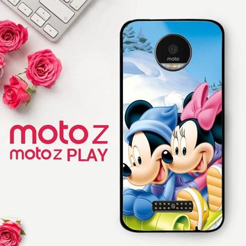 Mickey Mouse And Minnie Mouse X4965  Motorola Moto Z Play Case