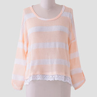 Georgia Peach Stripe Top