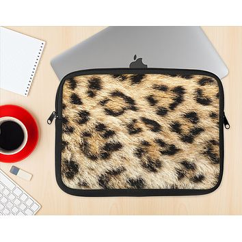 The Real Cheetah Animal Print Ink-Fuzed NeoPrene MacBook Laptop Sleeve