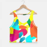Colorful Modd Pattern Crop Top, Live Heroes