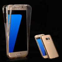 Clear Full Coverage Case S7 /S7 Edge Transparent 360 Degree Protective Phone Cover for Samsung Galaxy S7/S7 Edge TPU Accessories