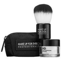 Sephora: MAKE UP FOR EVER : HD Powder & Brush Duo : setting-powder-face-powder