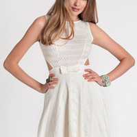 Wide Awake Eyelet Dress - $24.99 : ThreadSence, Women's Indie & Bohemian Clothing, Dresses, & Accessories