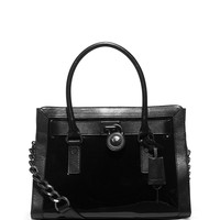 Hamilton Frame Out Satchel Bag, Black - MICHAEL Michael Kors