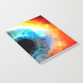 The Eye of Evil, demonic looking galaxy, nebula, beauty of deep space, rich colors Notebook by Peter Reiss