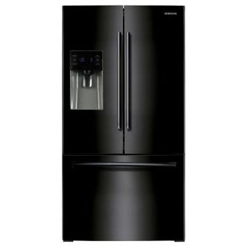 Samsung 24.6 cu. ft. French Door Refrigerator in Black-RF263BEAEBC - The Home Depot