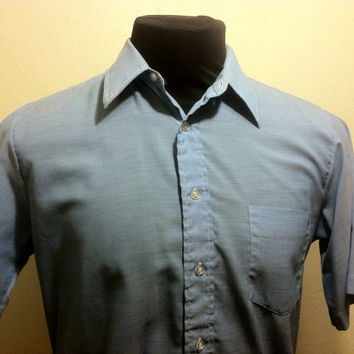 1960's Arrow Decton Light Blue Casual  Shirt