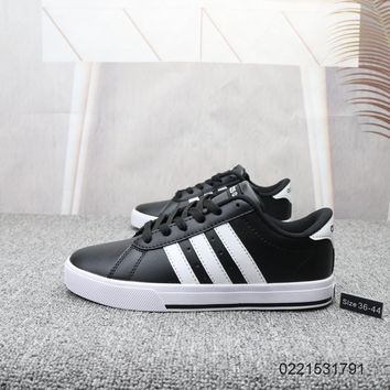 DCCK2 A858 Adidas NEO 2019 Sports Leather Casual Skate Shoes Black White