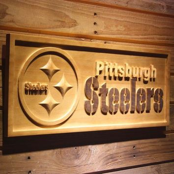 DCCKH6B Pittsburgh Steelers 3D Wooden Sign