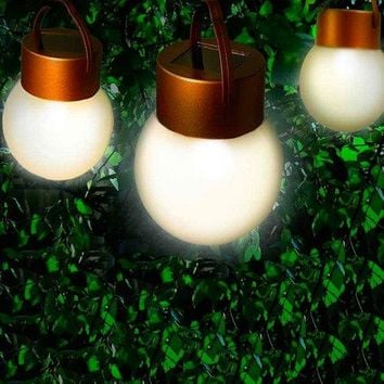 Set of 6 Hanging Solar LED Lights