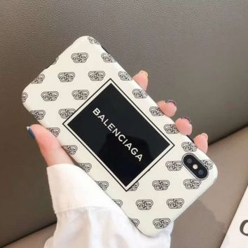 Stylish BALENCIAGA Case for iPhone 7 8 XS MAX XR