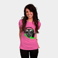 Dubstep Gas Mask T Shirt By Girtsernstsons Design By Humans