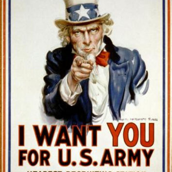 War Propaganda Art Uncle Sam 11x17 Mini Poster