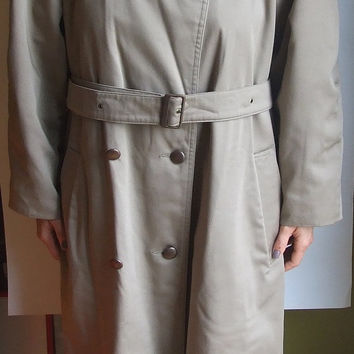 Vintage Long Coat / Jacket / Unisex Raincoat / Gentlemen's / Leather /Women's Men's / double breasted / Mac coat / Trench coat
