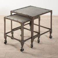 Industrial Steel Nesting Side Tables