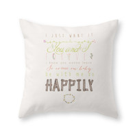 Society6 One Direction Ha Throw Pillow