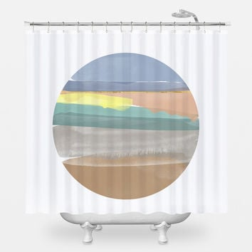 Annas Beach Shower Curtain