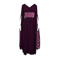Troubadour Renaissance Inspired Velvet & Brocade Evening Gown, c. 1970