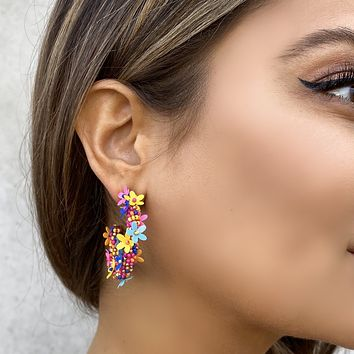 Rainbow Floral Reflections Earrings