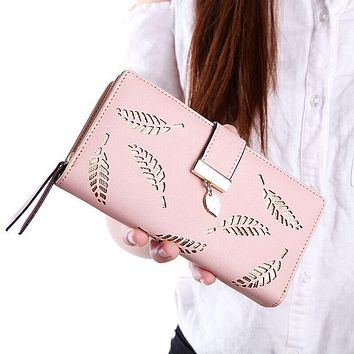 2017 Women Wallet Leather Card Coin Holder Money Clip Long Phone Clutch Photo High Quality Fashion Cash Pocket Female Purse