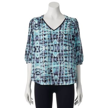 IZ Byer California Lattice Woven Top - Juniors, Size: