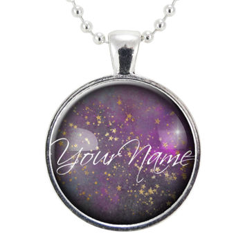 Personalized Name Necklace Or Customized Word Of The Year Pendant, Custom Made Personal Mantra Or Quote Jewelry