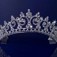 Rhinestones Crystal Wedding Bridal Pageant Princess Tiara Crown 3150:Amazon:Beauty