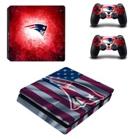 New England Patriots PS4 Slim Skin Sticker Decal for Sony PlayStation 4 Console and Controller PS4 Slim Skins Stickers Vinyl