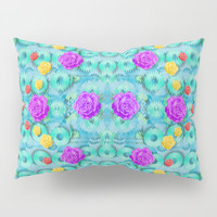 Season for roses and polka dots Pillow Sham by Pepita Selles