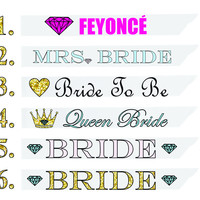 Choose Any Bridal Bachelorette Party Sash