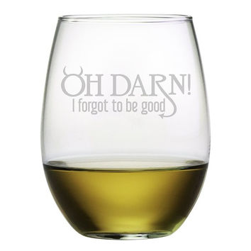 Oh Darn! Glasses - Set of 4