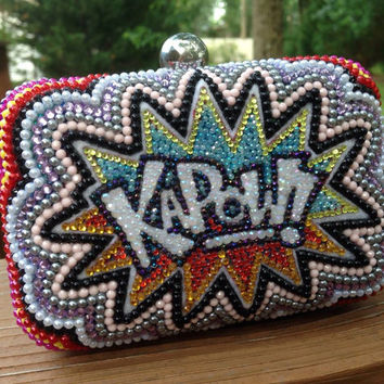 KAPOW Clutch -- handmade, of course