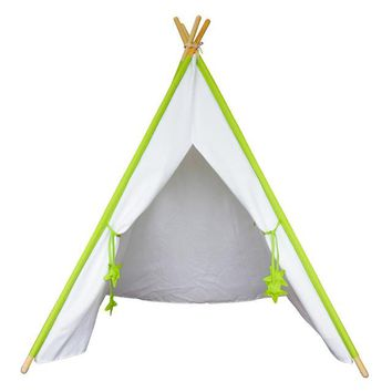 Colorful Poles Cloth Teepee Play Tent - Children's Modern Playhouse